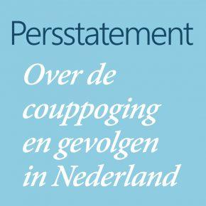 Persstatement Hizmetbeweging couppoging & gevolgen in Nederland