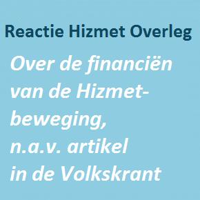 Reactie op Volkskrant artikel over 'donaties Gulenaanhangers'
